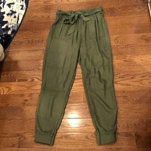 Hollister olive green joggers